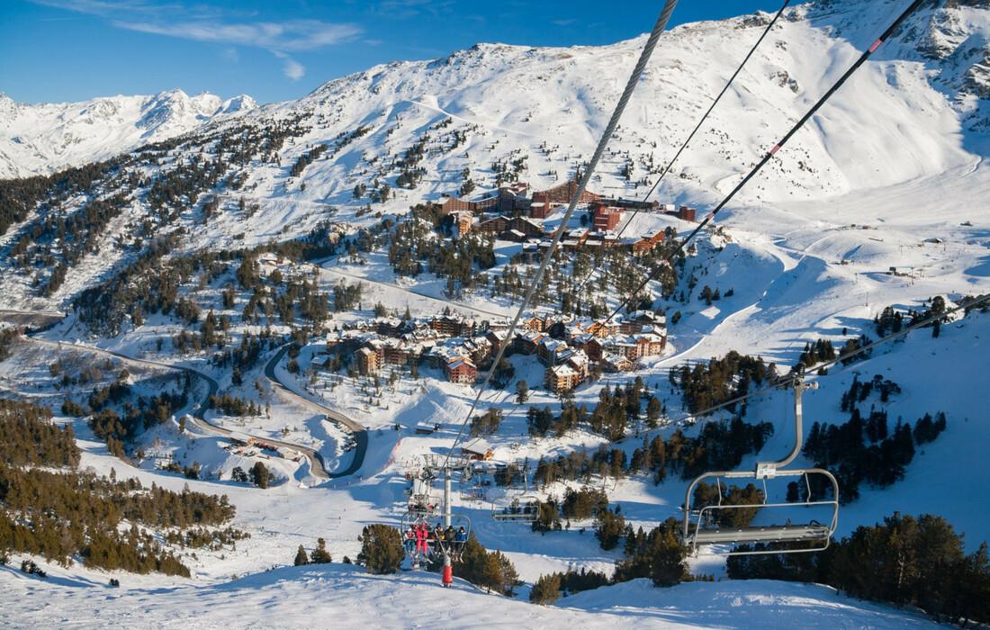 Skijanje Francuska, Les Arcs 2000. Apartmani Le Varet, skijalište.